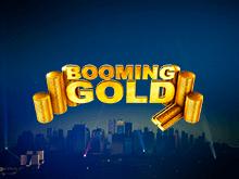 Азартный игровой слот с золотом и биткоинами: Booming Gold
