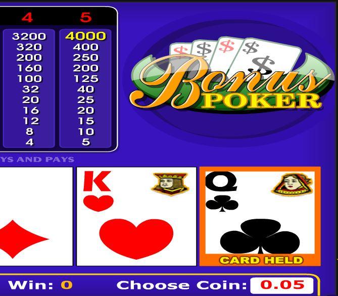 Bonus Poker - игровой автомат
