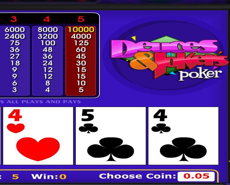 Deuces and Jokers Poker - игровой автомат