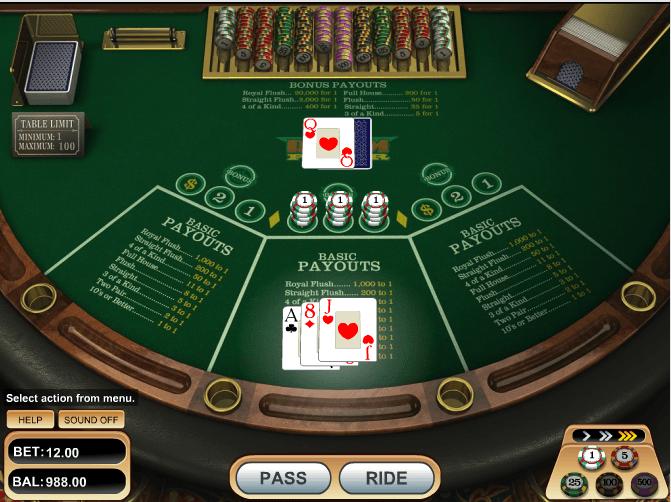 Ride'm Poker - игровой автомат